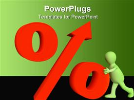 PowerPoint template displaying conceptual depiction - percent growth in the background.