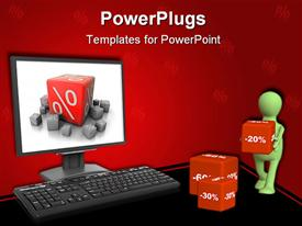 PowerPoint template displaying modern computer