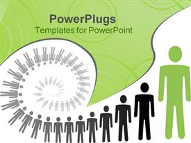 PowerPoint template displaying spiral personal growth conceptual depiction in vector format