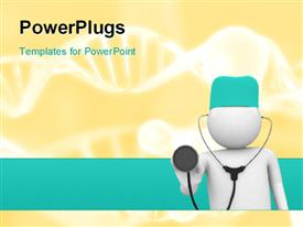 PowerPoint template displaying isolated characters on white background medicine series