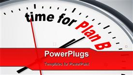 PowerPoint template displaying nice clock with time for Plan B in the background.