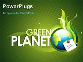 Care of our planet as main topic powerpoint template