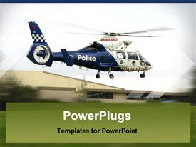 Police helicopter lift off after emergency response powerpoint design layout