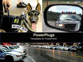 Police images collage powerpoint theme