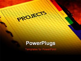 Project planner powerpoint theme