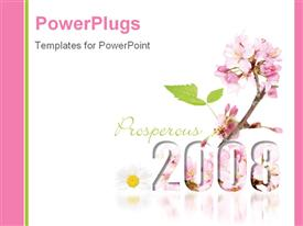 Bloomin' good New Year in 2008 powerpoint design layout