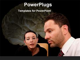 Psychologist giving advise to her patient powerpoint template