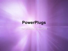 PowerPoint template displaying animated depiction with bright sparkle of light in purple background