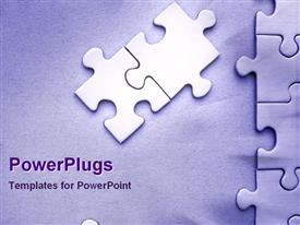 PowerPoint template displaying jigsaw puzzle