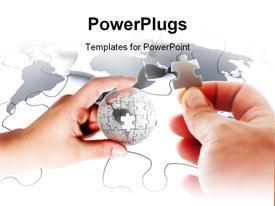 PowerPoint template displaying piece of world concept