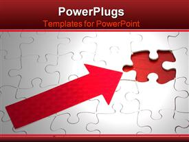 PowerPoint template displaying puzzle with missing piece - solving problems with incomplete information