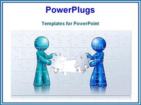 PowerPoint template displaying puzzle setting in the background.