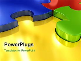 Puzzle over white background. 3D image powerpoint theme
