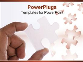 Jigsaw puzzle makes a good metaphor for any problem to solve powerpoint design layout