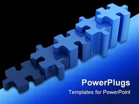 PowerPoint template displaying a number of puzzle pieces together with black background