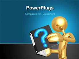 Concept And Presentation Figure in 3D powerpoint template