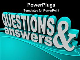 The words Questions and Answers in 3D and on an angle powerpoint theme