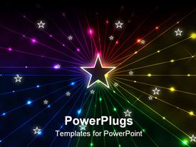 PowerPoint template displaying a beautiful star in the middle