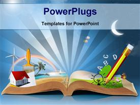 Magical world of reading - magic book powerpoint design layout