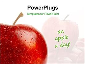 Shoot of an isolated red apple template for powerpoint