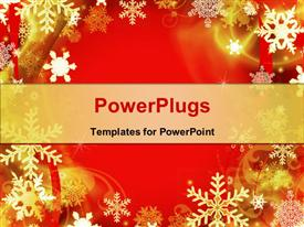 Abstract Red Christmas Background powerpoint theme