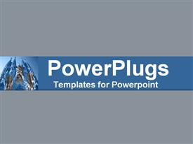 Blue overlays of soaring church facades and steeple powerpoint template