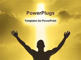 PowerPoint template displaying cross in the background.
