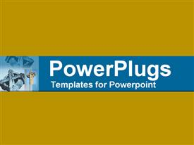 PowerPoint template displaying dual view of very ancient stone cross in the background.