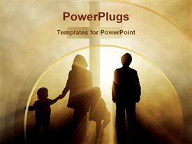 PowerPoint template displaying easter faith family fog god haze holiday holiness holy