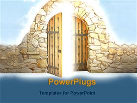 PowerPoint template displaying enchanting door