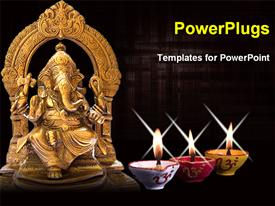 Lord Ganasha powerpoint theme