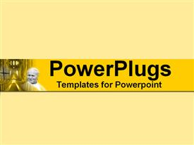 PowerPoint template displaying pope John Paul II with the grand central nave of S