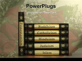 Religion books powerpoint theme