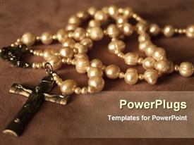 Rosary beads powerpoint template