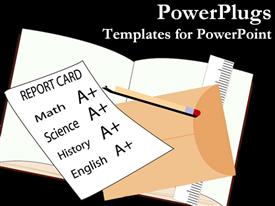 PowerPoint template displaying school report card