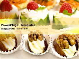 PowerPoint template displaying restaurant appetizing delights