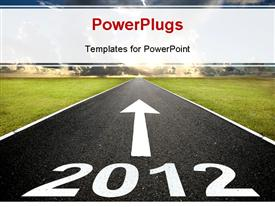 Road to the new year 2012 and sunrise powerpoint theme