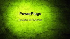 PowerPoint template displaying close-up of rough green background