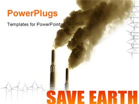 PowerPoint template displaying last chance to save the Environment in the background.