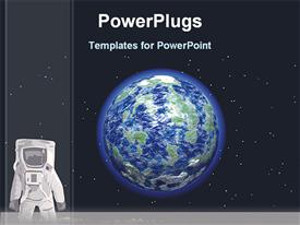 Astronaut in the space powerpoint design layout