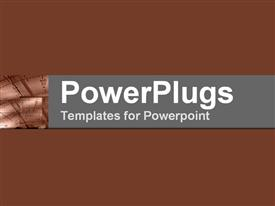 Brown collage of scale on electronic equipment powerpoint theme