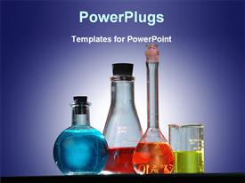 Chemicals in a scientific lab template for powerpoint