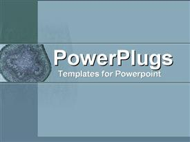Close-up of cell microorganism template for powerpoint