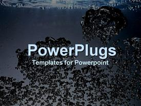 PowerPoint template displaying close-up of clear bubbling water
