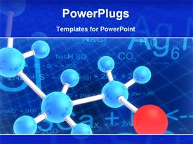 Diagram of molecule structure template for powerpoint