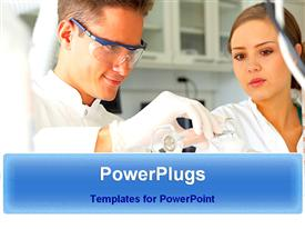 Scientists are in research work powerpoint theme