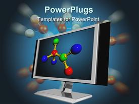 Lcd screen for computer powerpoint template
