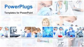 PowerPoint template displaying a lot of surgeons in one picture
