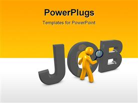 PowerPoint template displaying a figure with the word job and place for text