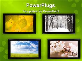 PowerPoint template displaying special toned made from my depictions textures and depictions in the background.